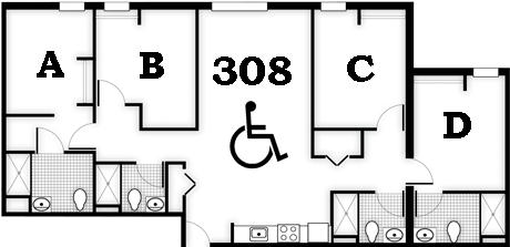 Courtesy Of University Of Central FloridaThe Floorplan Of Room 308 In Tower  I Where James Seevakumaranu0027s Part 63