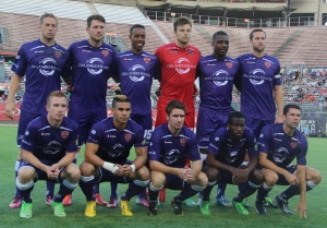 Photo Credit: Ty Wright Forward Dom Dwyer and defender Yann Songo'o have been usuals in Orlando City's starting 11 thought the season.